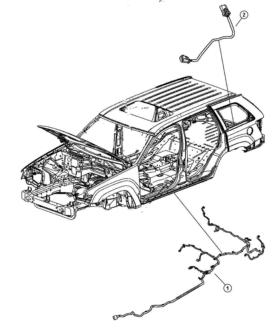 2008 Jeep Grand Cherokee Wiring. Underbody