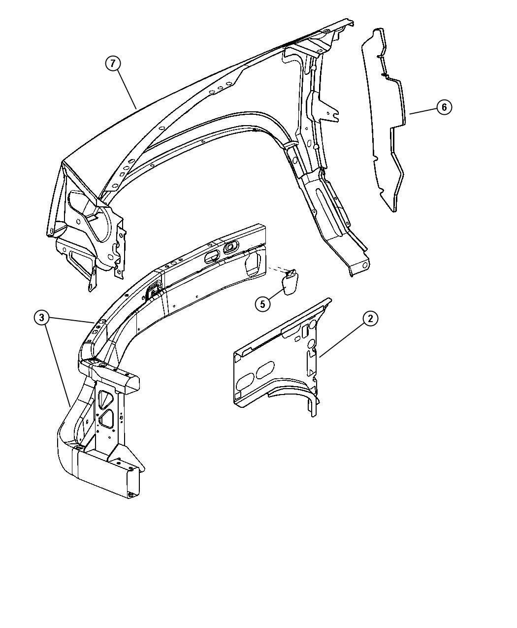 Dodge Dakota Closure Radiator Right