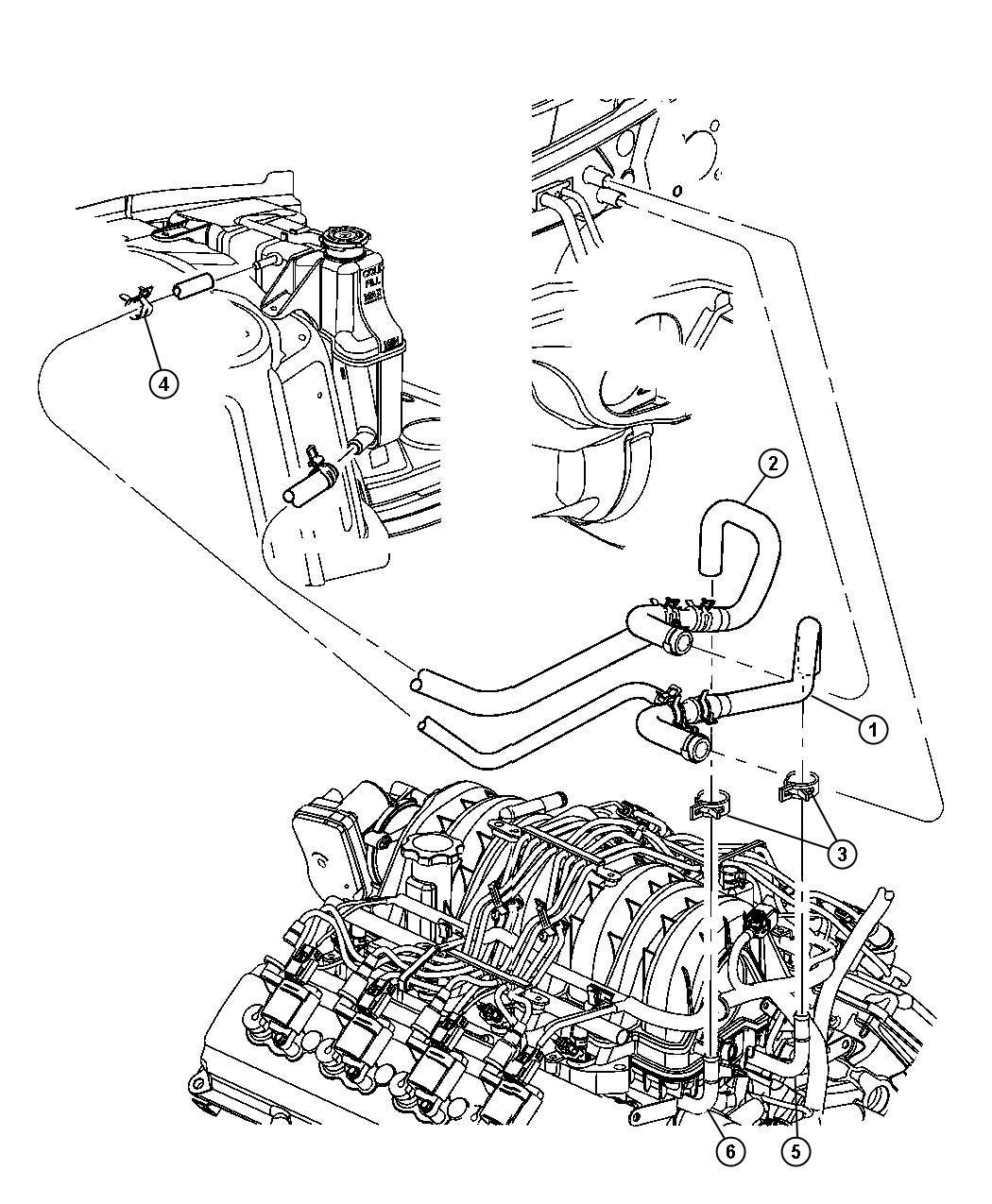 Chrysler 300 Hose, hose and tube. Heater return. Ezdezh