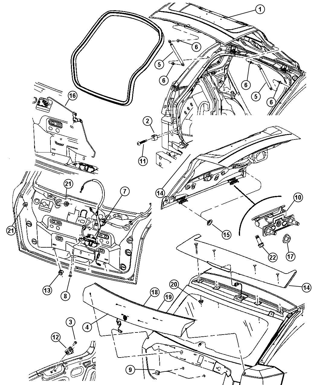 Dodge Caliber Handle. Manual. Liftgate. Lock. Color: (-yh