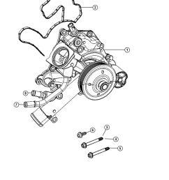 water pump location 2002 jeep liberty on 5 7 hemi belt diagram [ 1050 x 1275 Pixel ]
