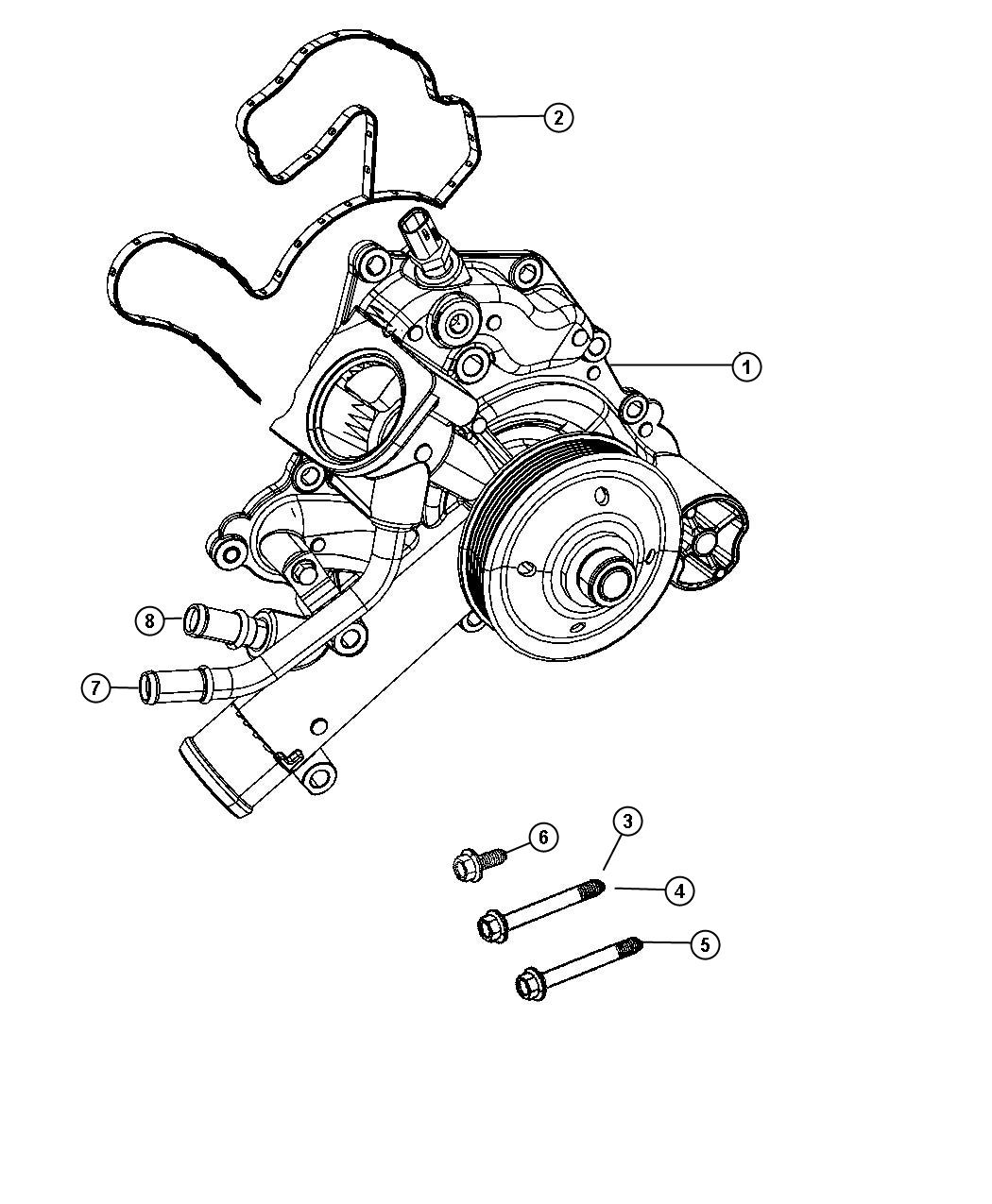 hight resolution of  water pump location 2002 jeep liberty on 5 7 hemi belt diagram