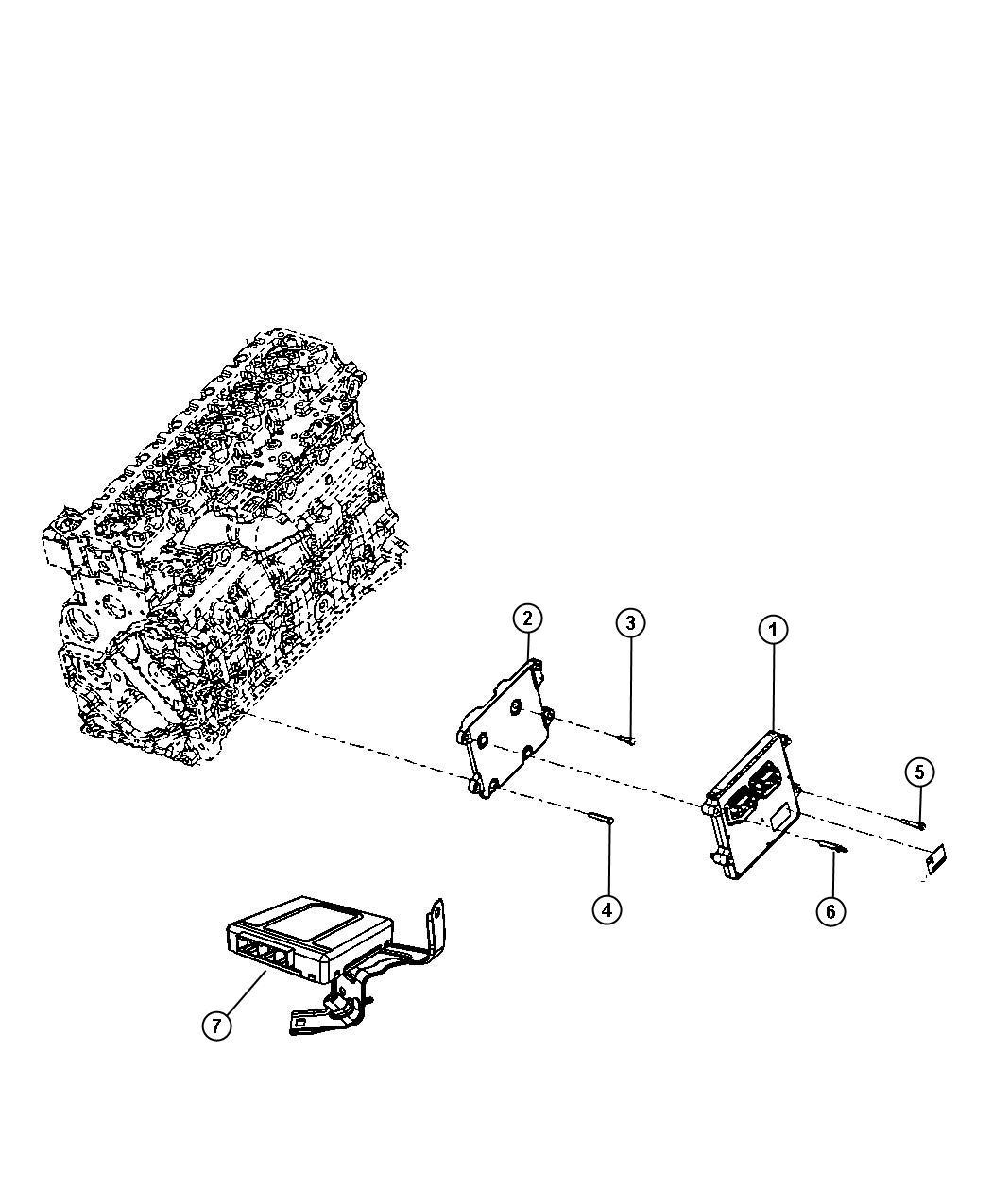 2008 Dodge Ram 3500 Module. Transmission control