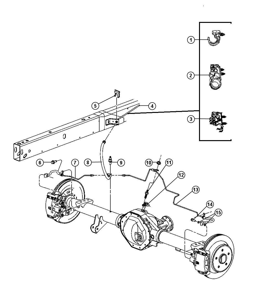 Brake Tubes and Hoses,Rear and Chassis