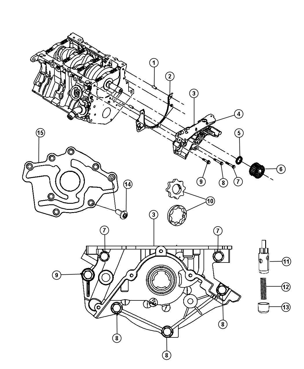 Jeep Wrangler Cap. Oil pressure relief valve. 27, oil