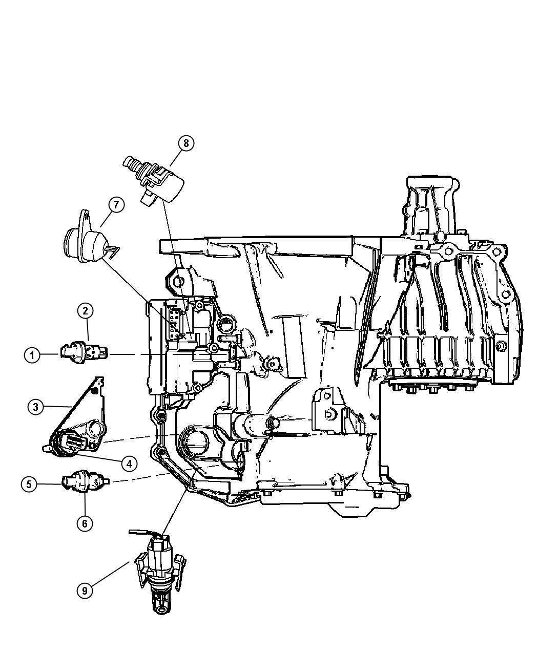 Chrysler 300 Sensor Temperature Transfer Case Borg