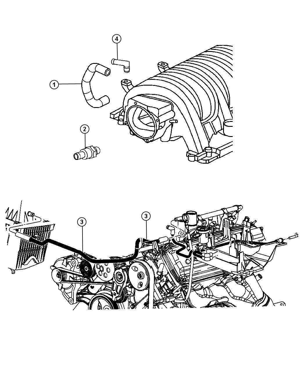 Jeep Grand Cherokee Hose Pcv Valve To Intake