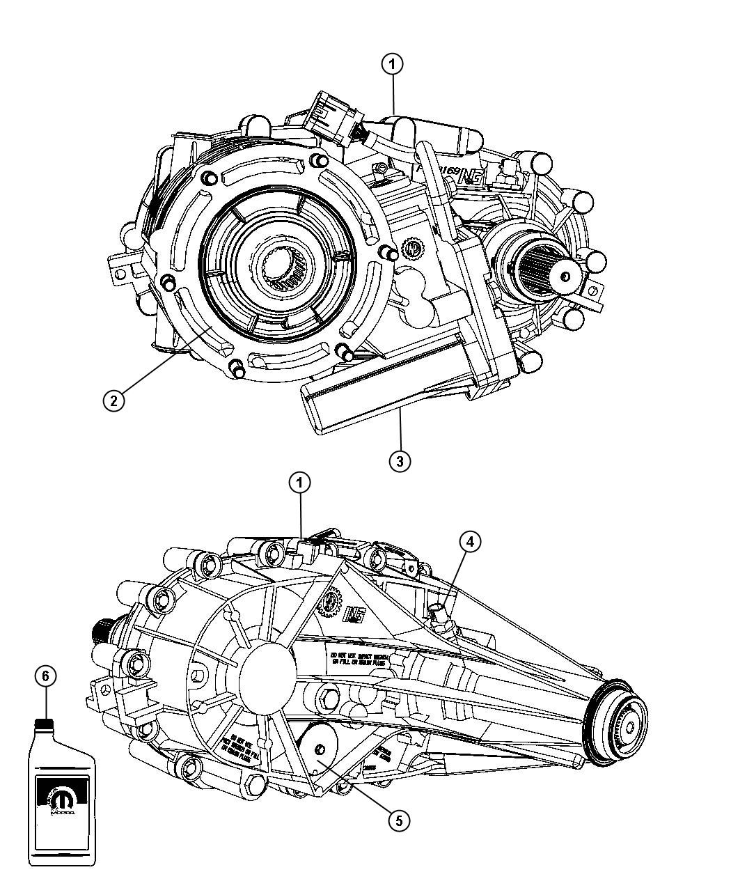 2009 Dodge Ram 1500 Transfer Case Assembly And