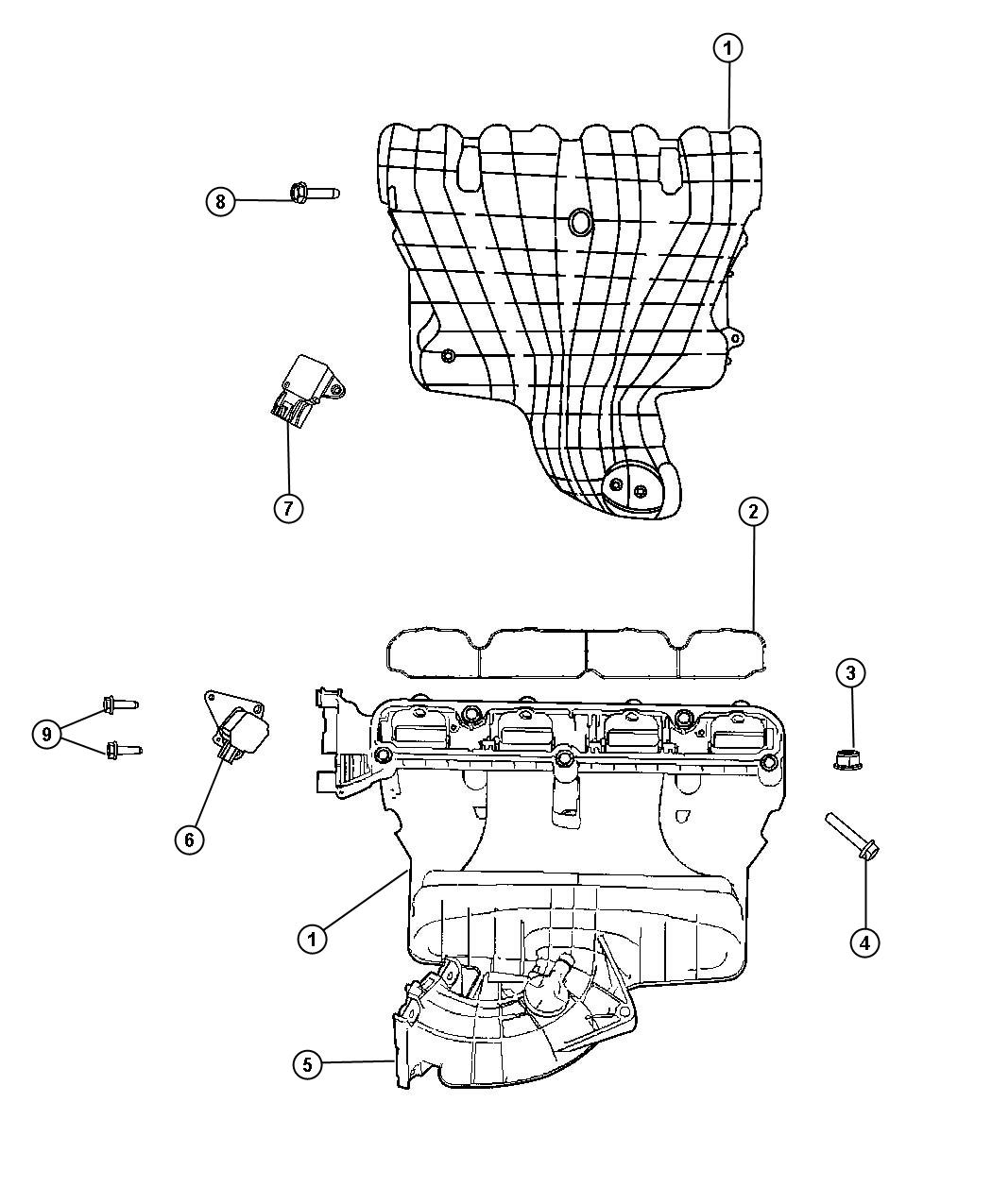 Service manual [2009 Jeep Compass Intake Gasket