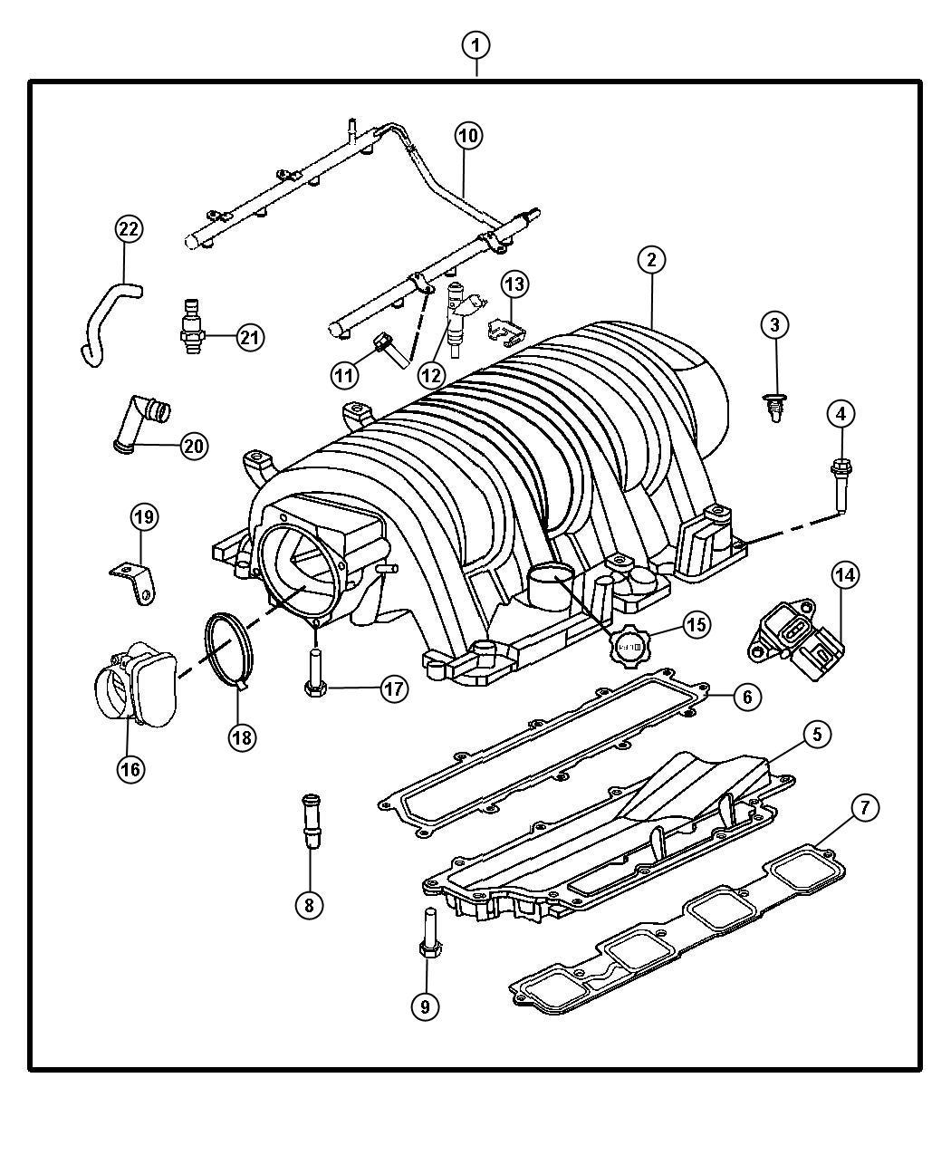 2008 Jeep Grand Cherokee Hose. Pcv valve to intake