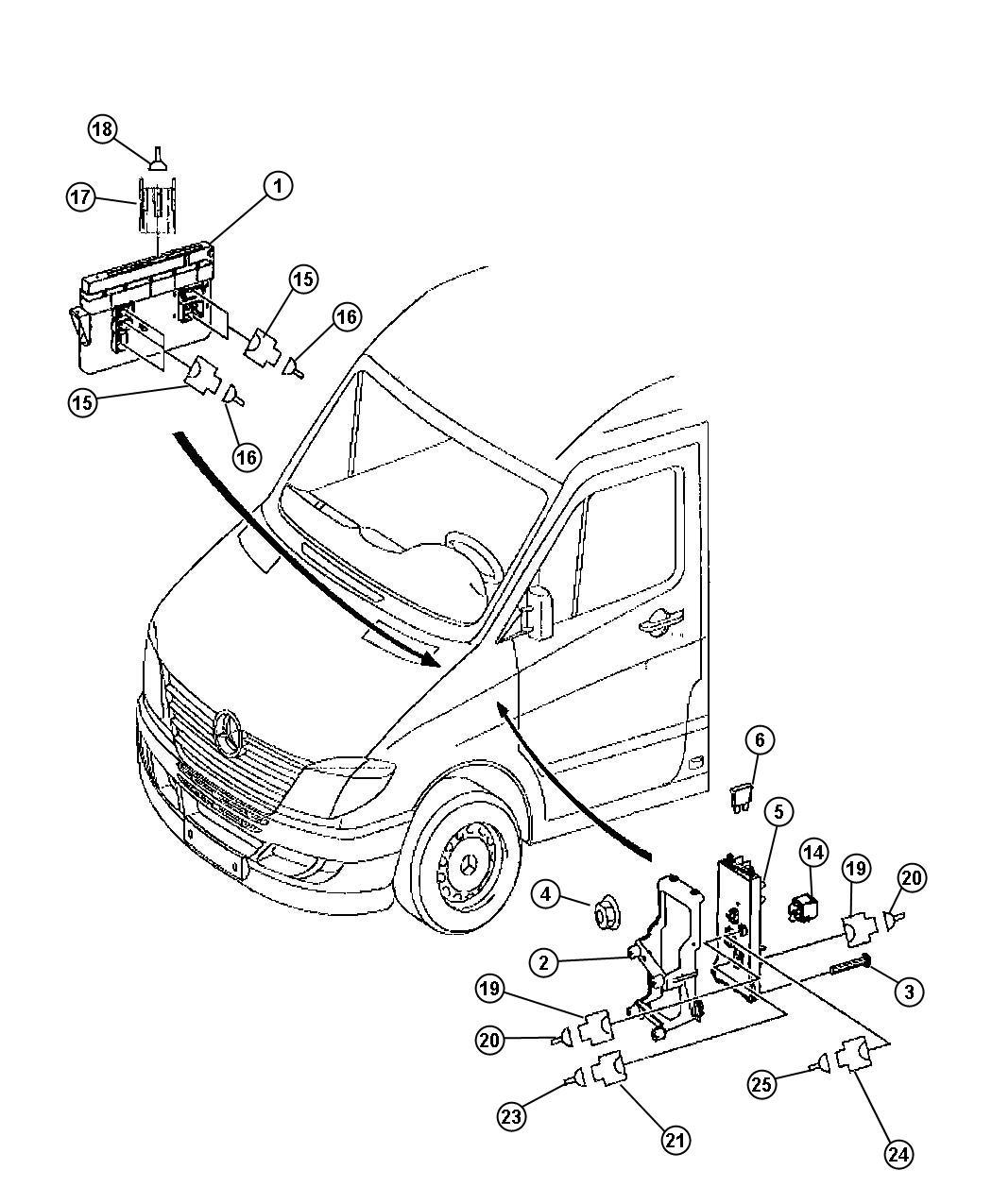 2013 Dodge Journey Block, fuse. Fuse holder / air