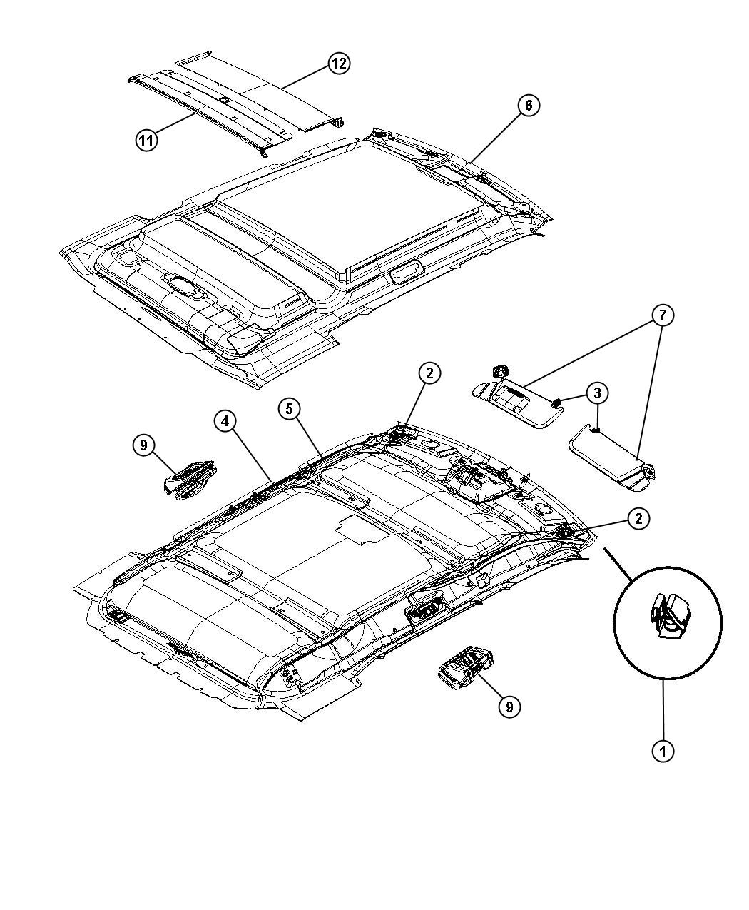 2008 Jeep Liberty Sky Slider Parts Diagram