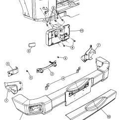 2007 Jeep Wrangler Front Suspension Diagram 2001 Saturn Sl1 Stereo Wiring Bumper Parts Free Engine