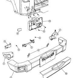 jeep grand cherokee rear bumper parts diagram jeep tj rear bumper stock jeep bumper 2016 [ 1050 x 1275 Pixel ]