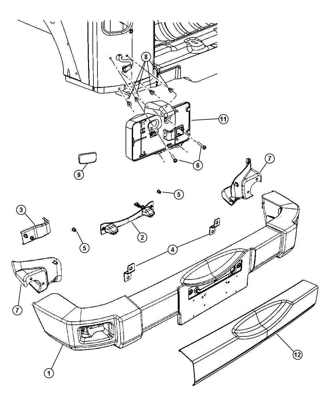 hight resolution of jeep grand cherokee rear bumper parts diagram jeep tj rear bumper stock jeep bumper 2016