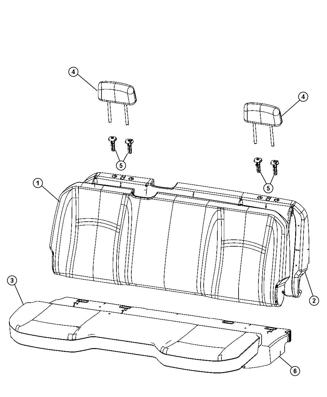 Dodge Ram 1500 Foam. Seat cushion. [rear folding seat