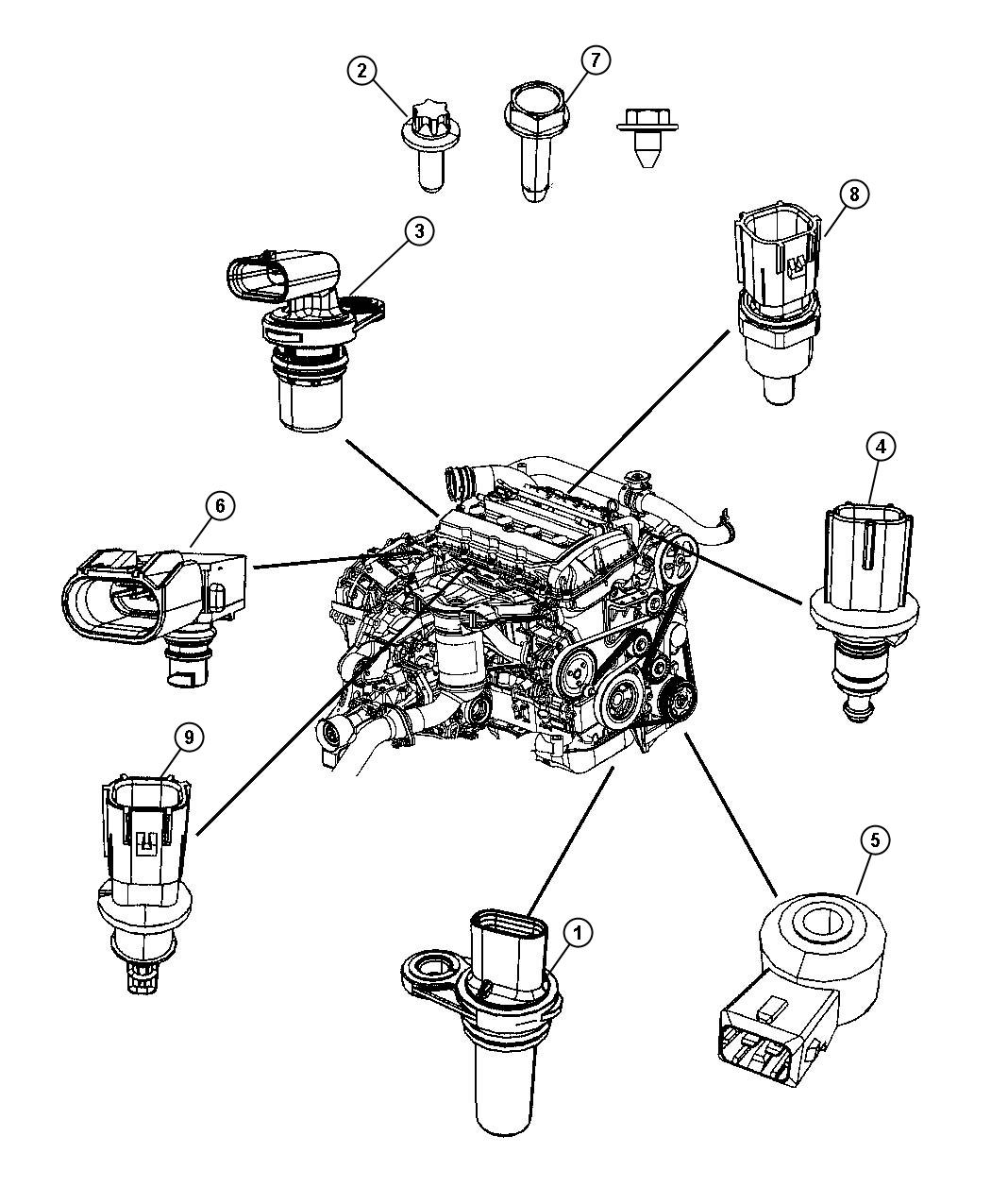 2012 Jeep Compass Sensor. Crankshaft position. Eba, ecn