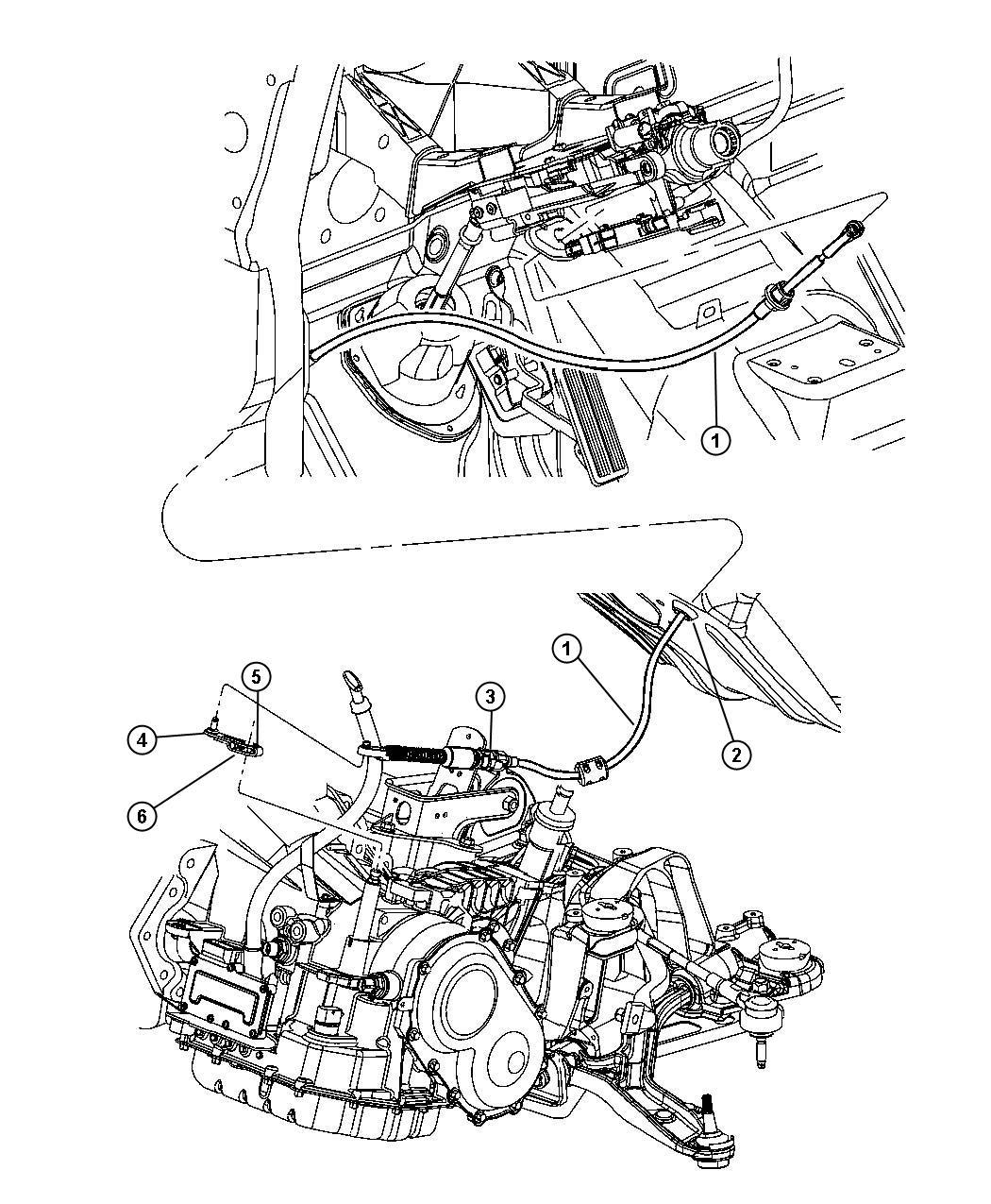 2005 Dodge Grand Caravan Lever. Manual control