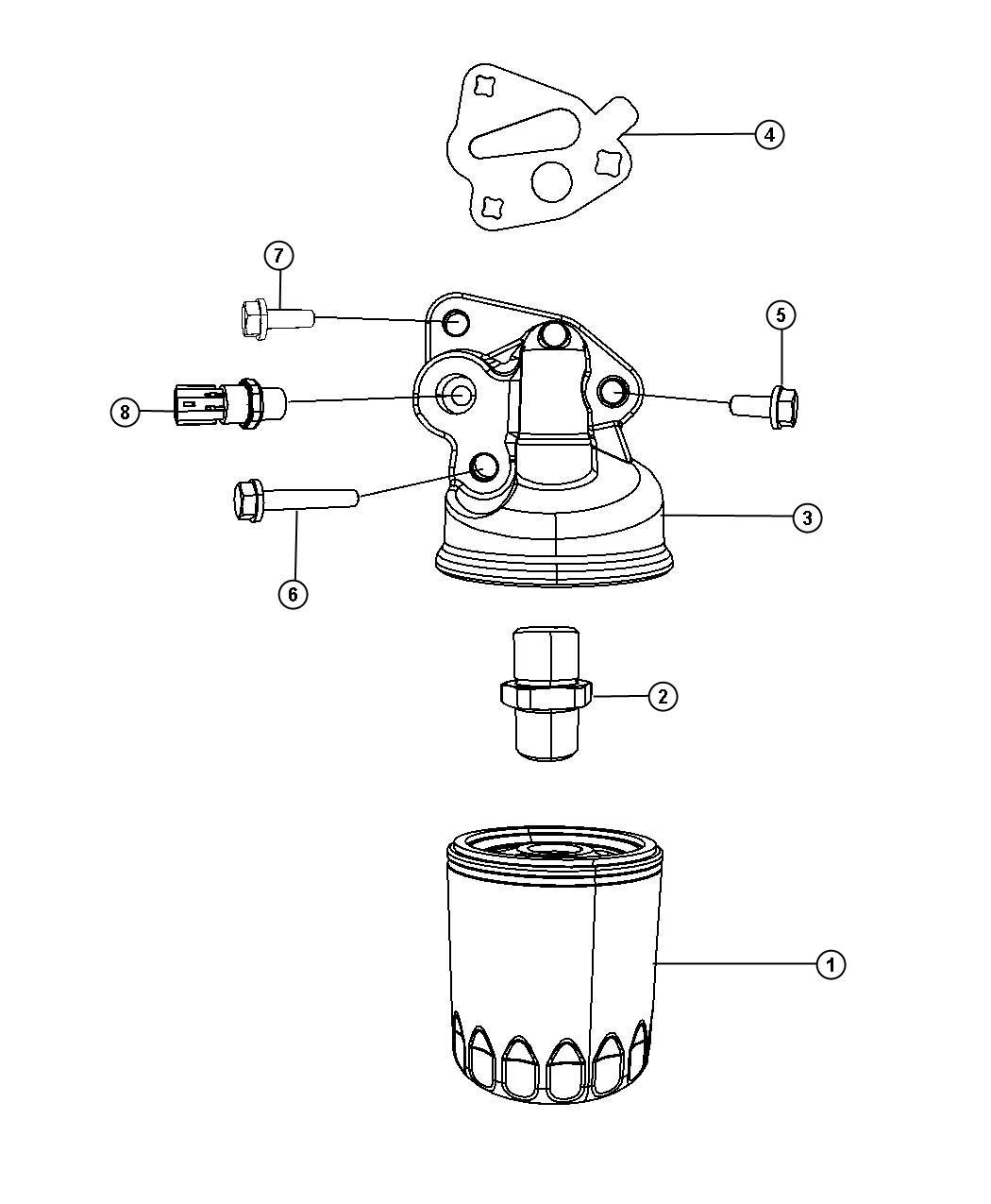 Dodge Intrepid Sending unit, switch. Oil pressure