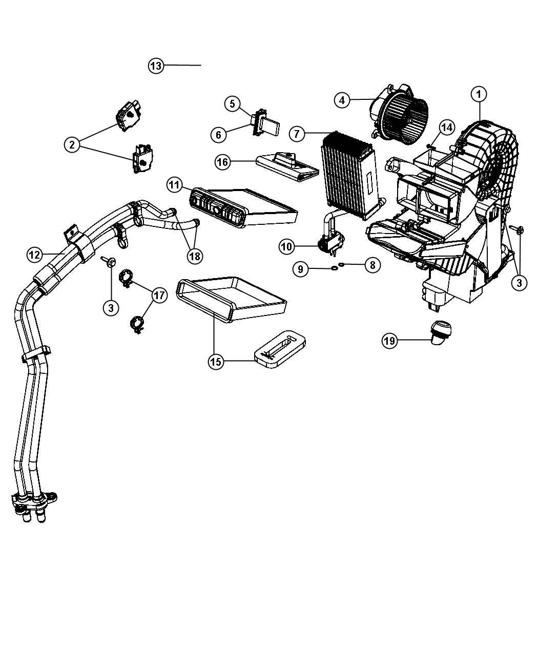 2013 Chrysler Town & Country Rear AC ACTUATOR MOTOR