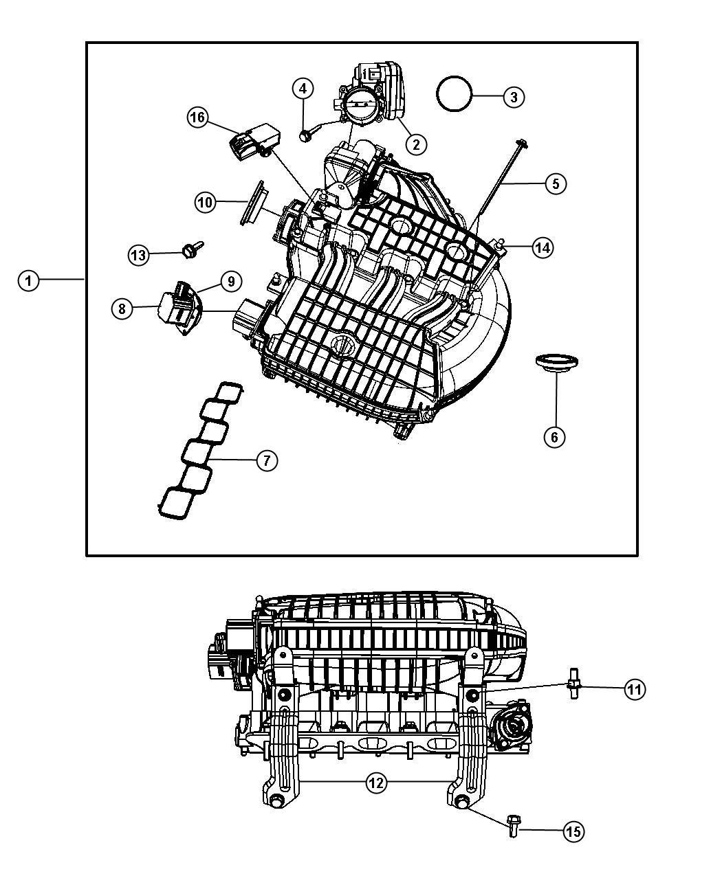 Chrysler Pacifica Actuator Manifold Tuning Valve Mtv