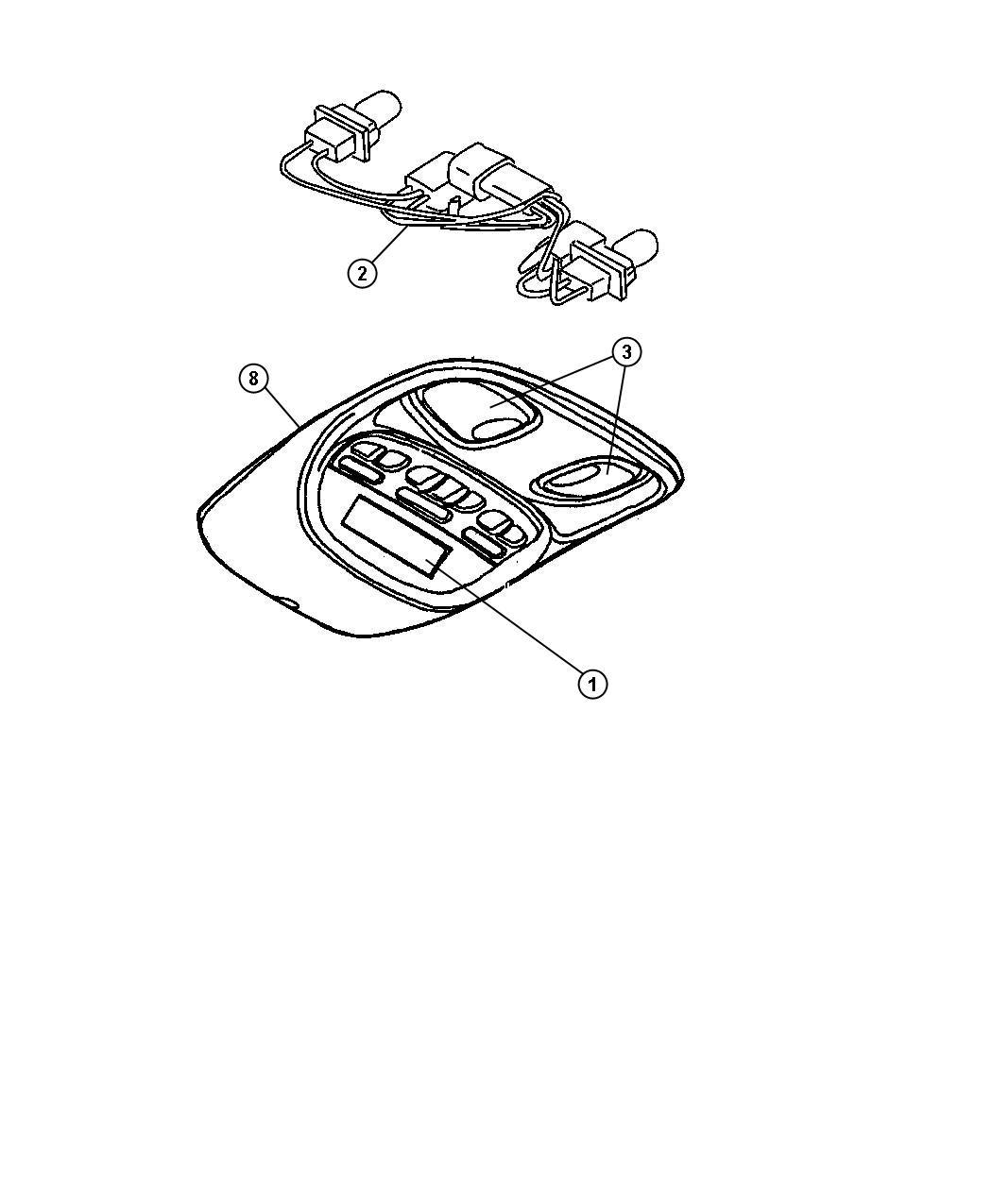 Dodge Ram 2500 Wiring. Overhead console. Trim: [all trim