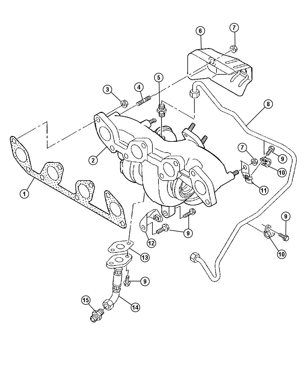 Jeep Patriot Shield Exhaust Manifold Heat