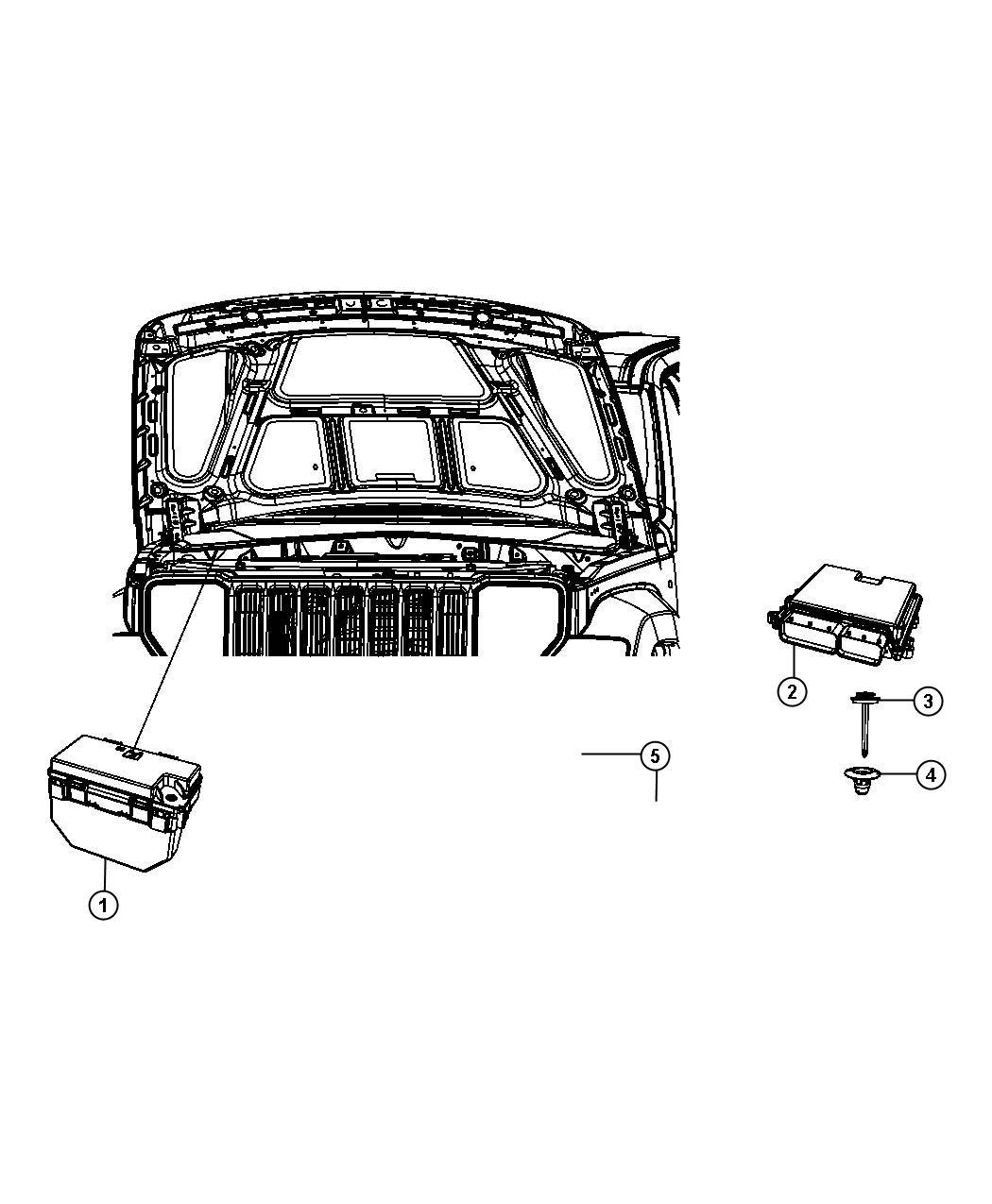 2010 Jeep Wrangler Module. Powertrain control. Generic