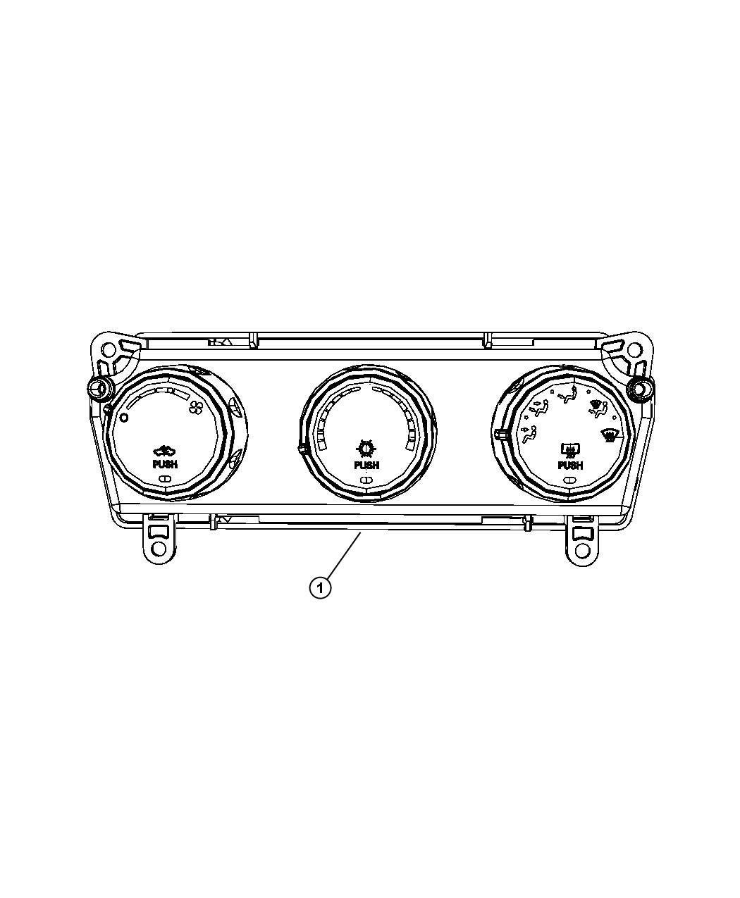 Jeep Liberty Control Used For A C And Heater