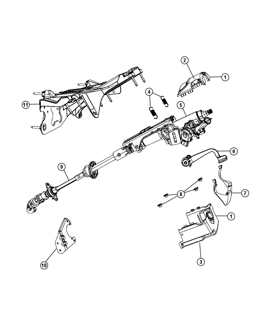 Service manual [Steering Column Removal 2010 Jeep Liberty