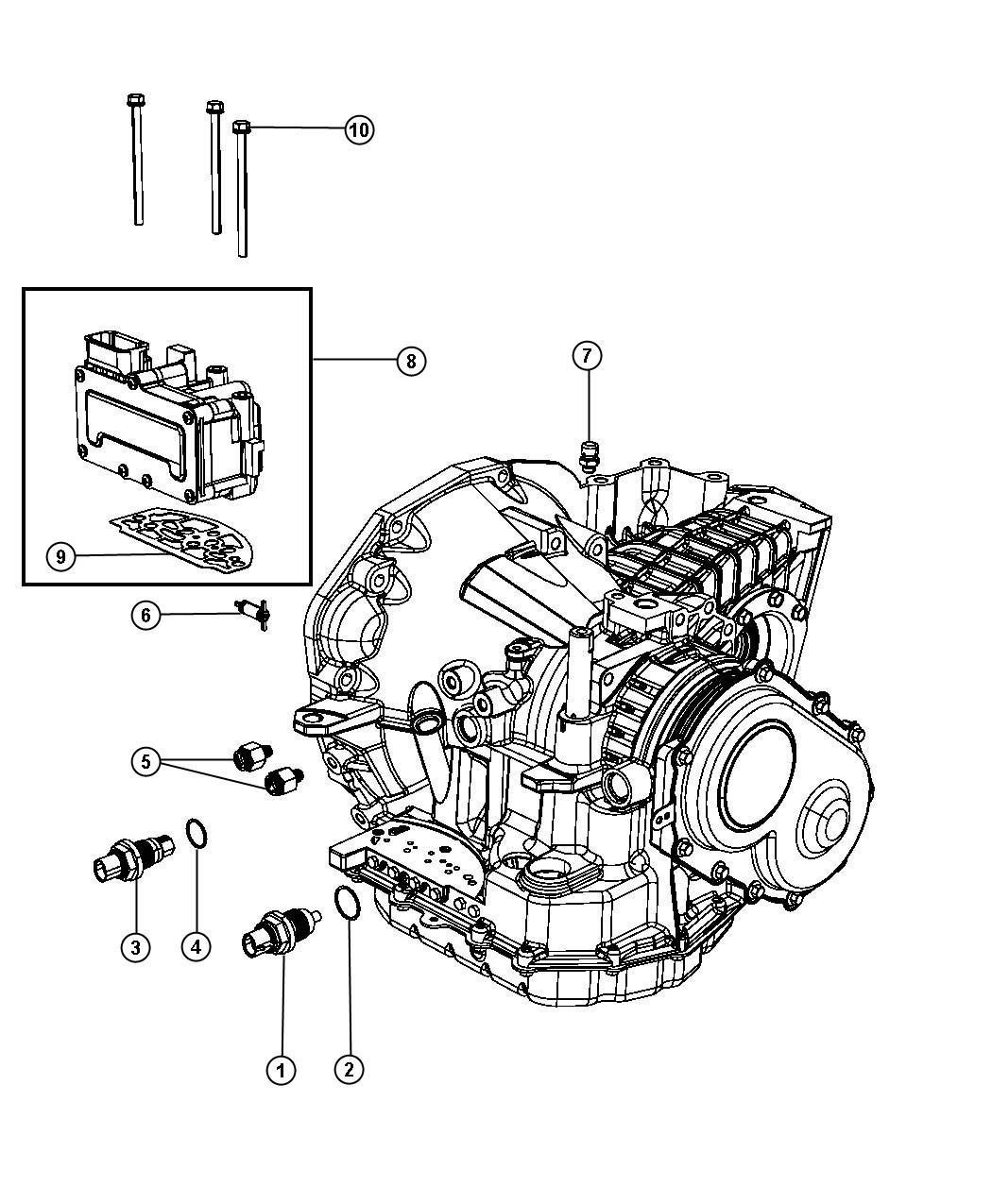 Chrysler Pacifica Solenoid module, solenoid package. 41te