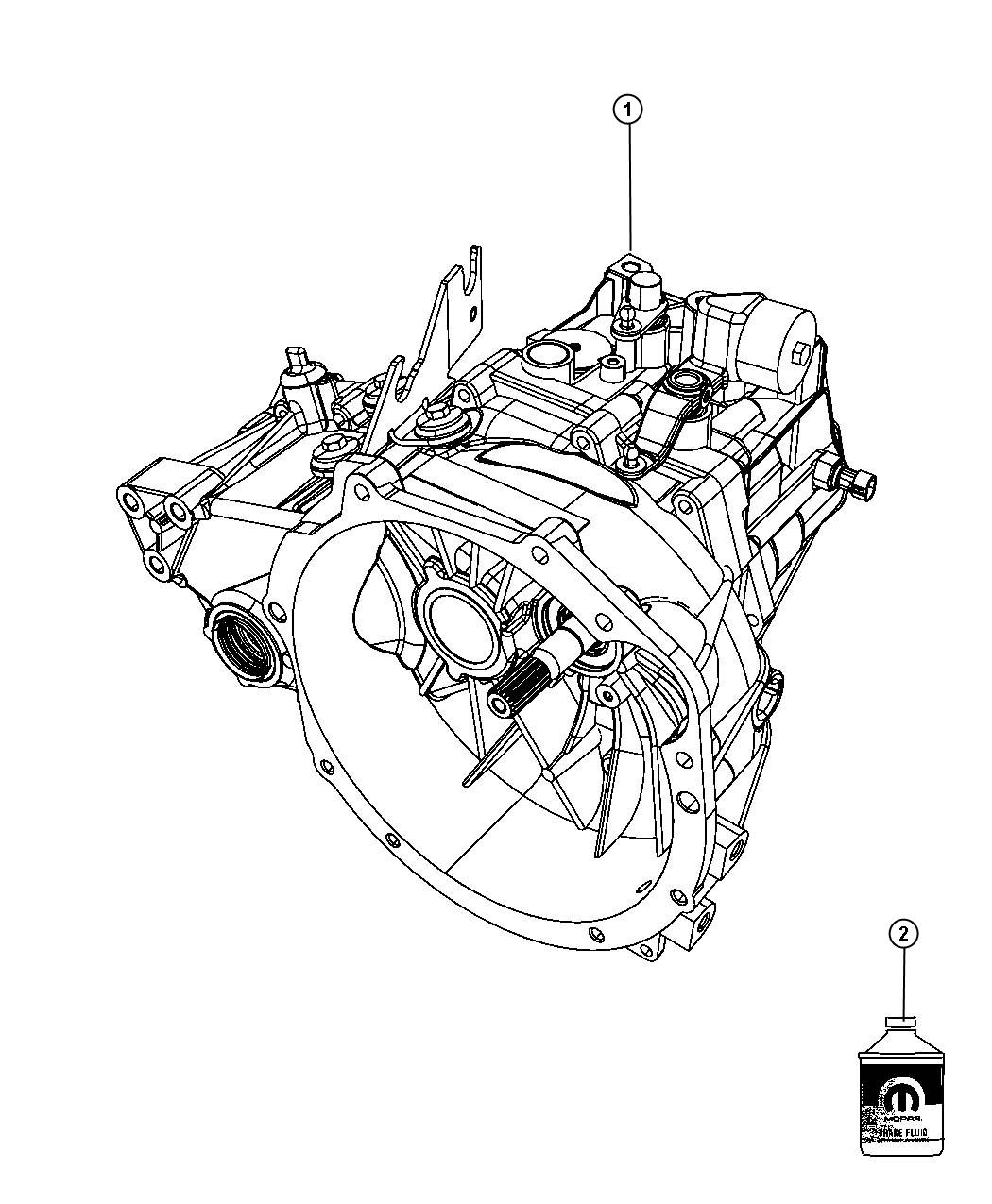 2010 Dodge Caliber Transmission / Transaxle Assembly.