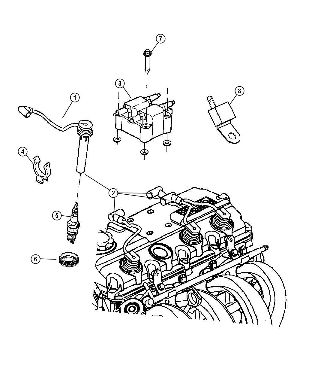 2006 Chrysler Town & Country Spark plug. Re16mc. Optional