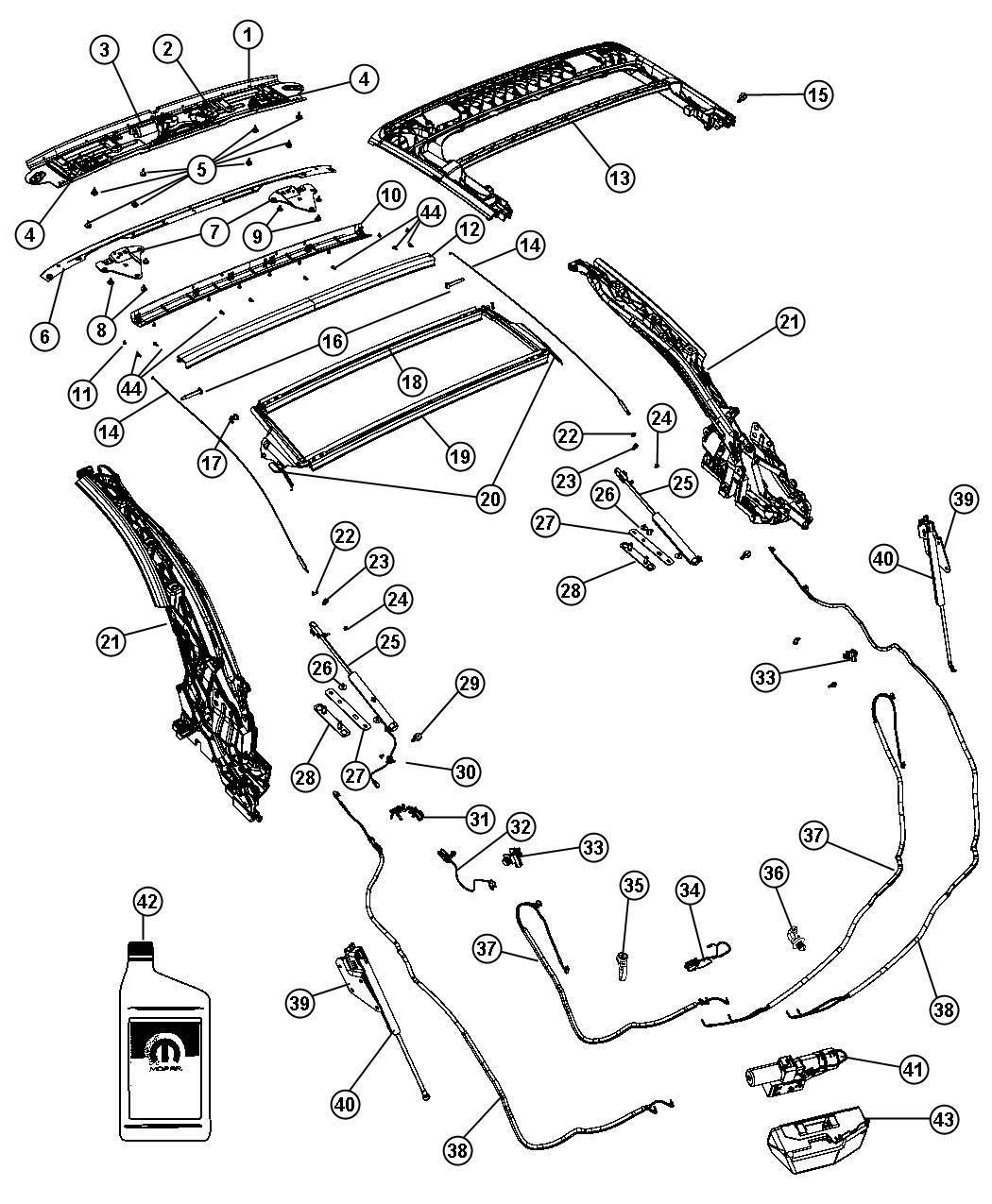 Chrysler Sebring Wiring Jumper Folding Top