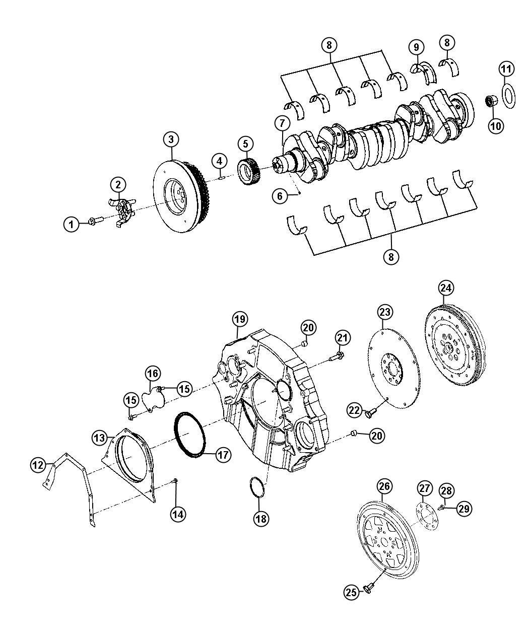 Dodge Ram Flywheel Engine Dual Mass Manual
