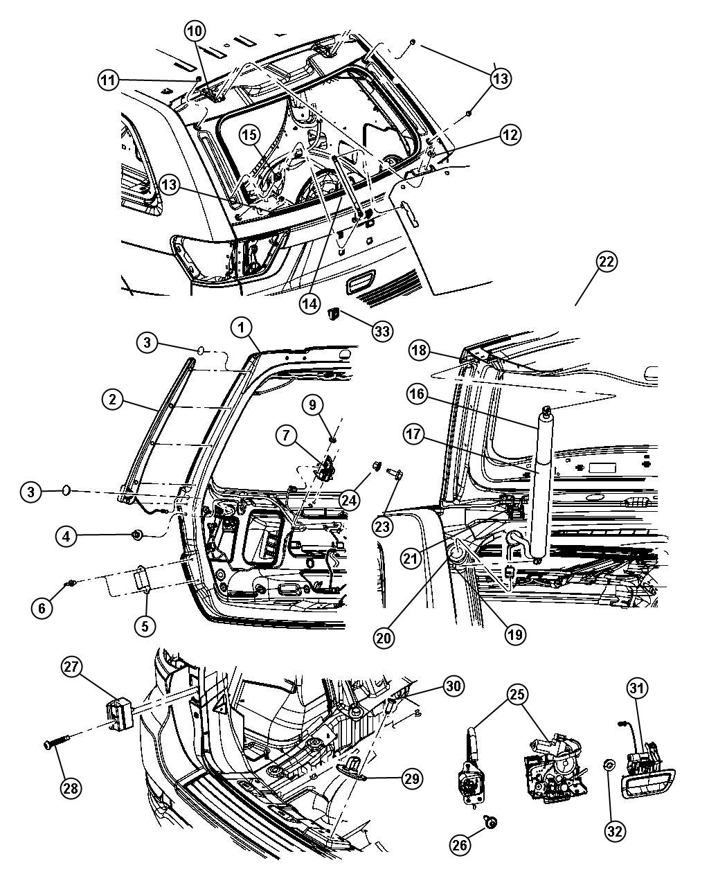 Jeep Motor And Gear Power Liftgate