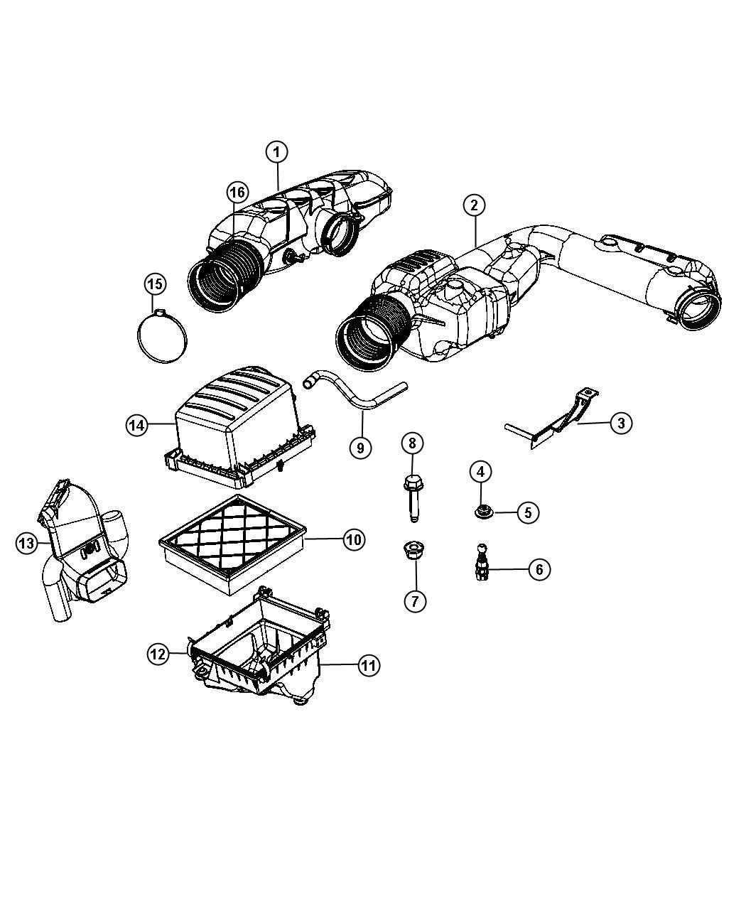 Dodge Magnum Bracket Resonator 3 6l V6 Vvt Engine Air