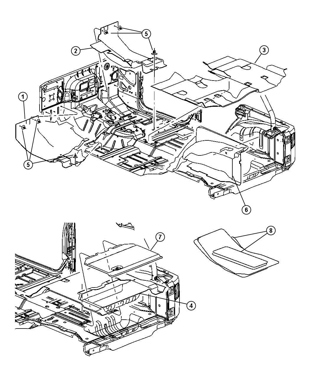 Jeep Wrangler Carpet. Floor. Center. Trim: [all trim codes