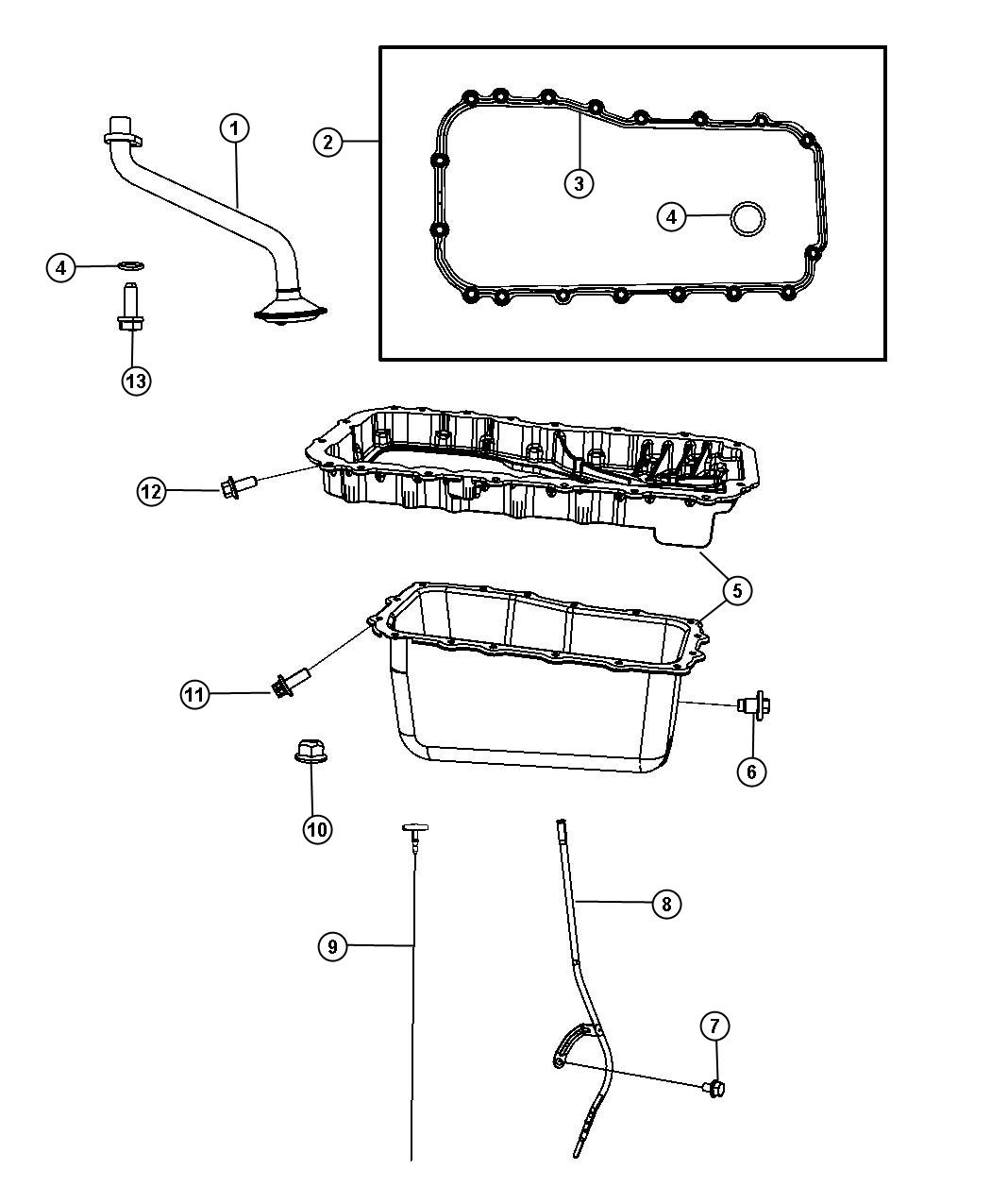 Jeep Wrangler Pan Oil Used For Upper And Lower