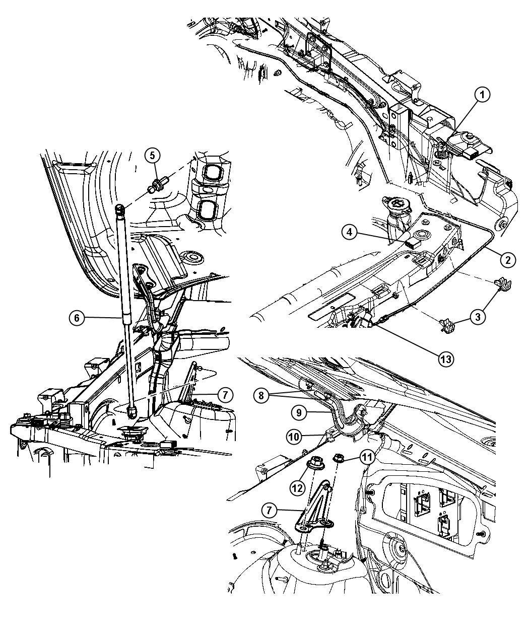 2014 Dodge Latch. Hood. Liftgateblackambassador, enterngo