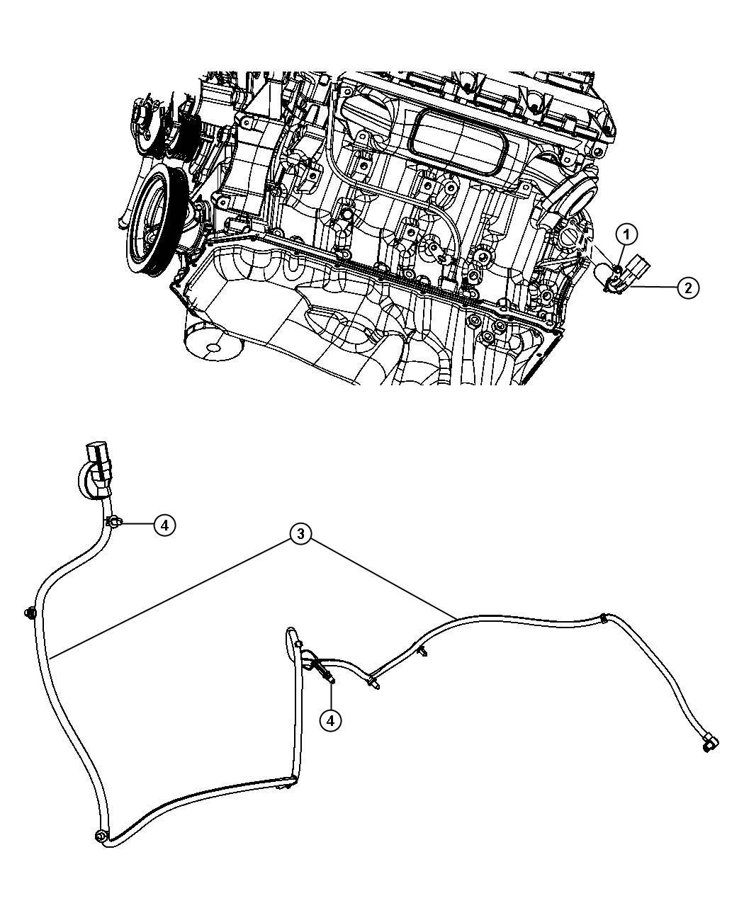 2011 Dodge Ram 1500 Engine Cylinder Block Heater 5.7L [EZH]