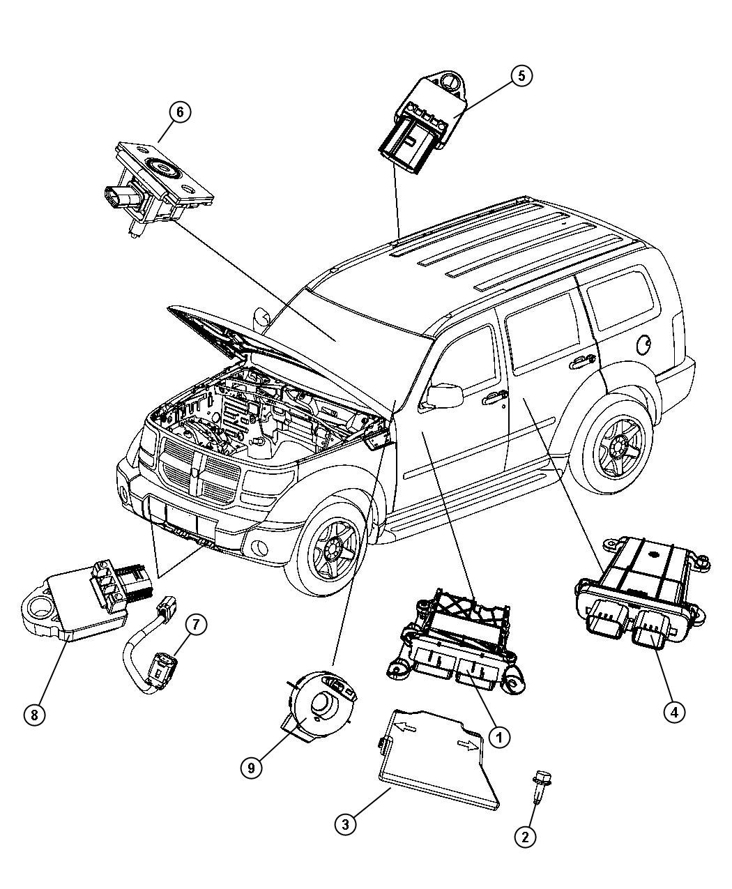 Service Manual Replace Dodge Caliber Air Bag Module