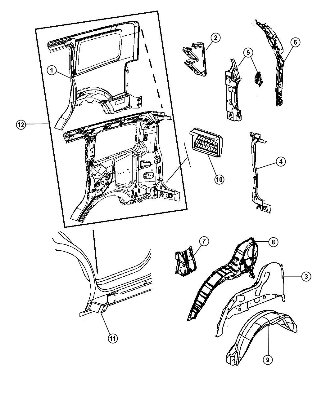 Service Manual Remove The Back Quarter Panel Of A