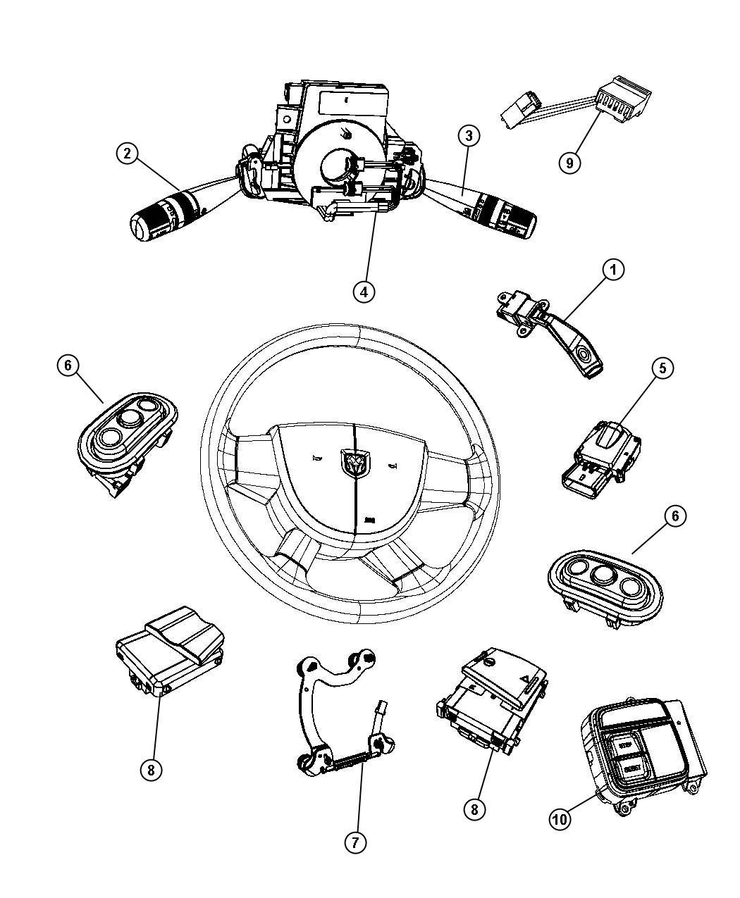 2013 Dodge Durango Switch. Radio control. Left. Trim: [all