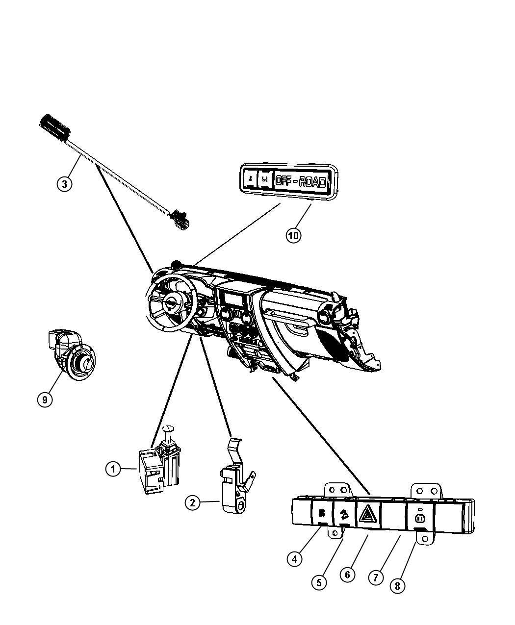 Jeep Wrangler Switch Export 6 Gang Seatshill