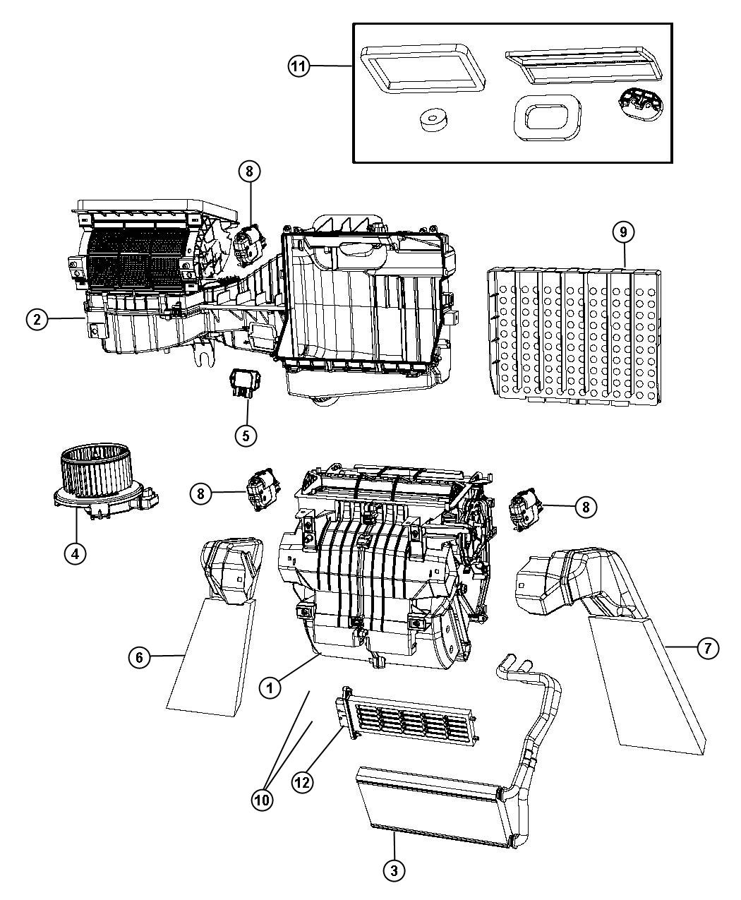 Service manual [2011 Jeep Wrangler Replace Heater