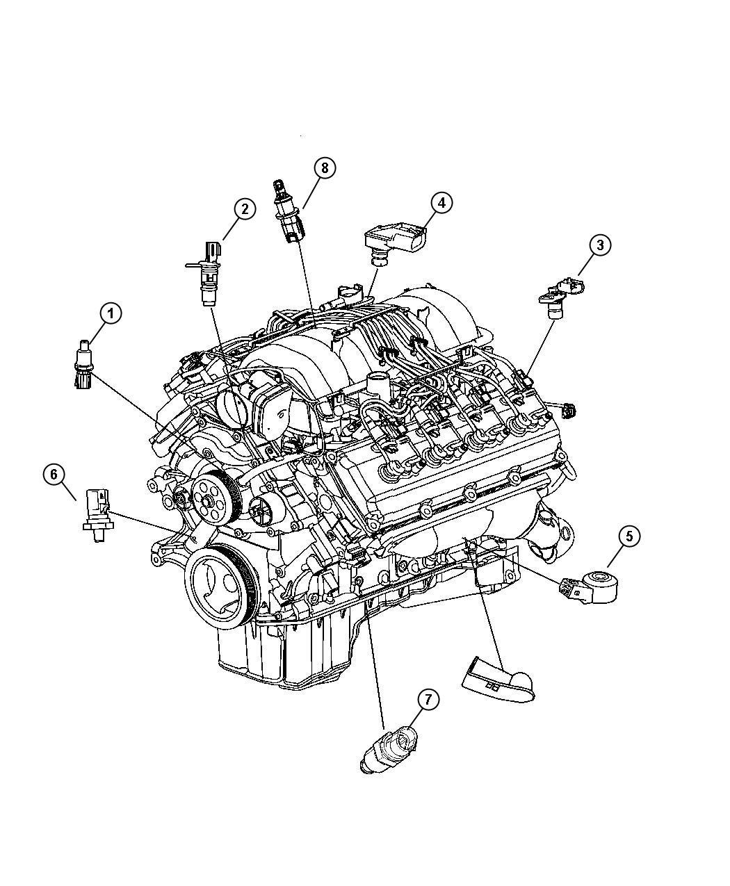Dodge Ram Sensor Coolant Temperature Fluid
