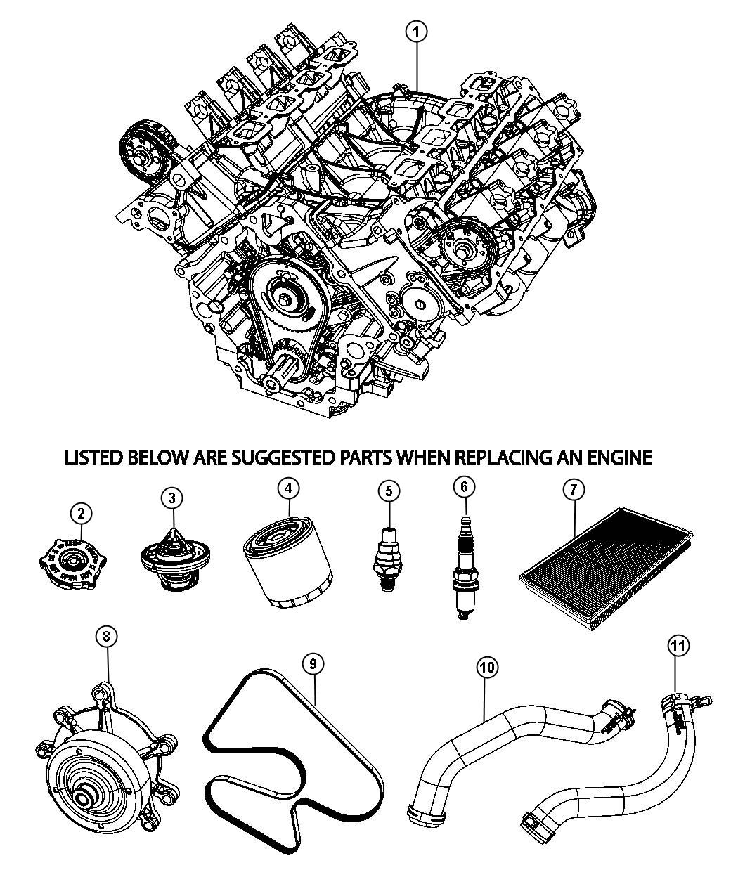 Dodge Nitro Engine. Remanufactured. Long block. Suggested