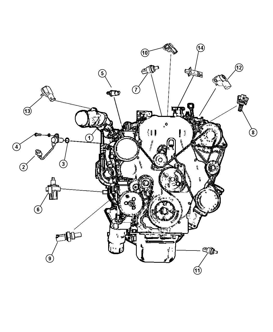 2008 Dodge Caliber Sensor. Crankshaft position. Eba