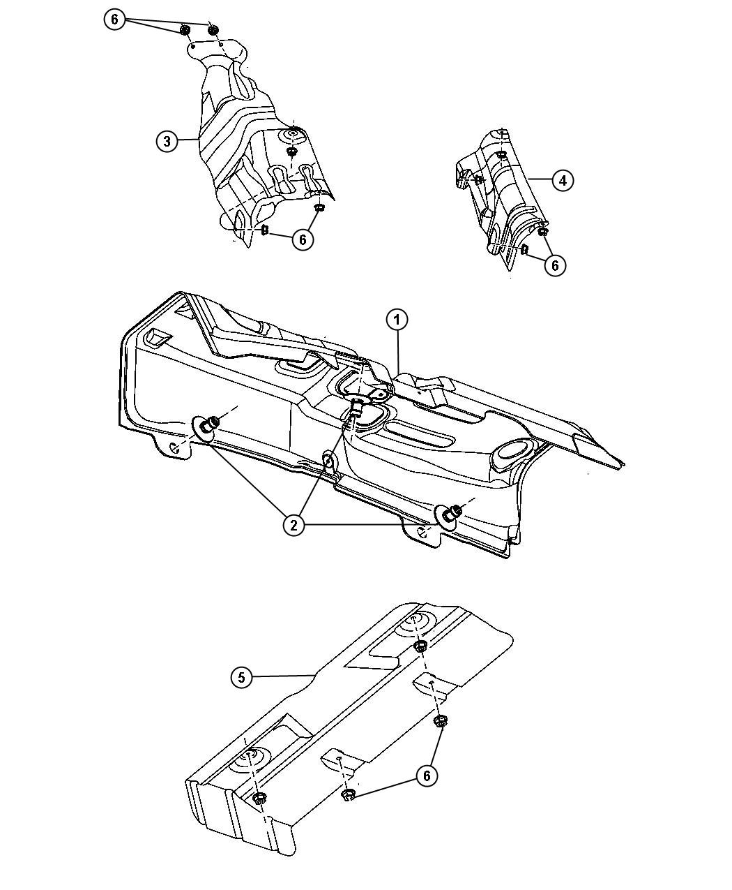 Jeep Patriot Shield. Floor pan, heat. Muffler, rear, rear